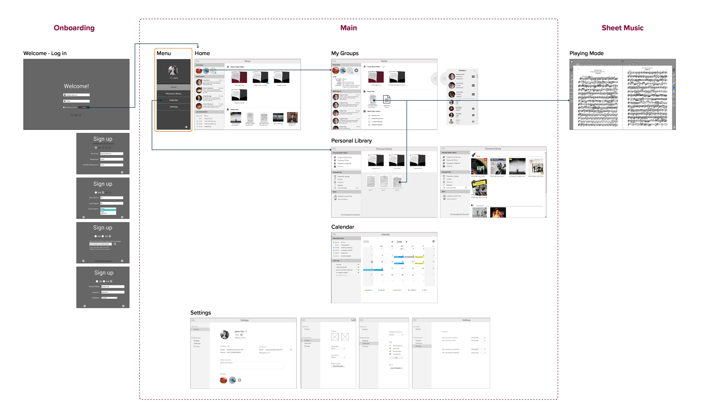 design – v1 – wireframes